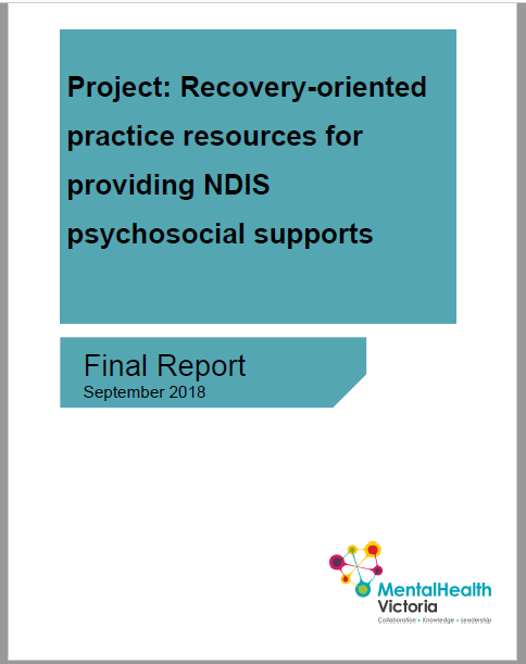 2018 recovery oriented resources NDIS report